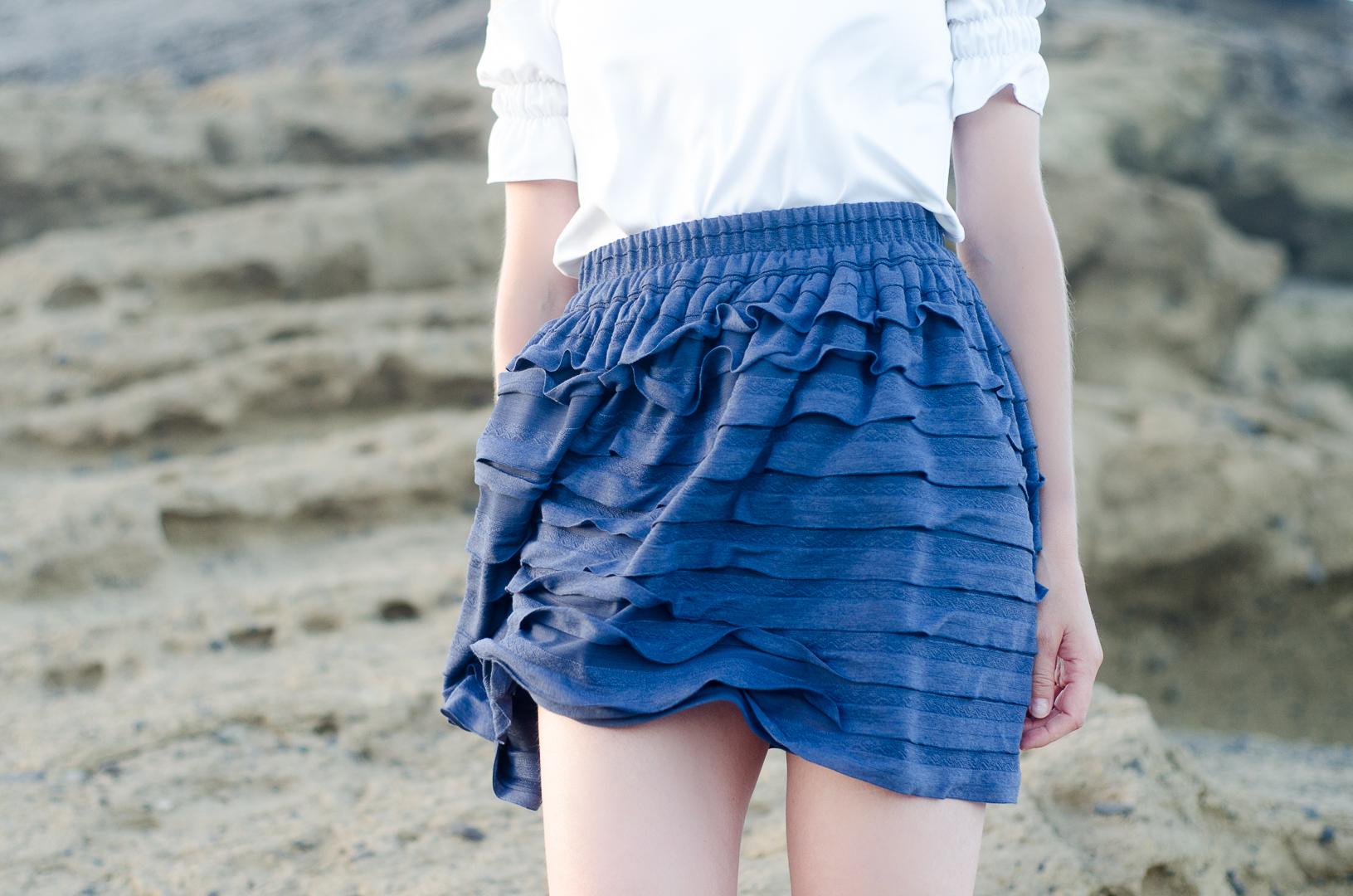 Spódnica z falbankami MAYA Blue